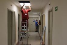 Obres a l'àrea de Reanimació Postquirúrgica de l'hospital Trueta