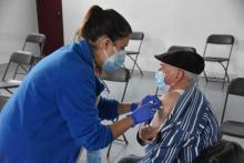 Vacunant a Sant Feliu de Guíxols