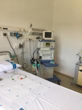 Un dels respiradors cedits per les clíniques veterinàries